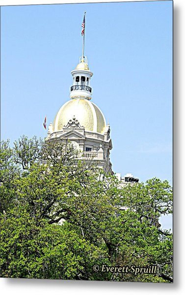 Capital Building Savannah Georgia Metal Print