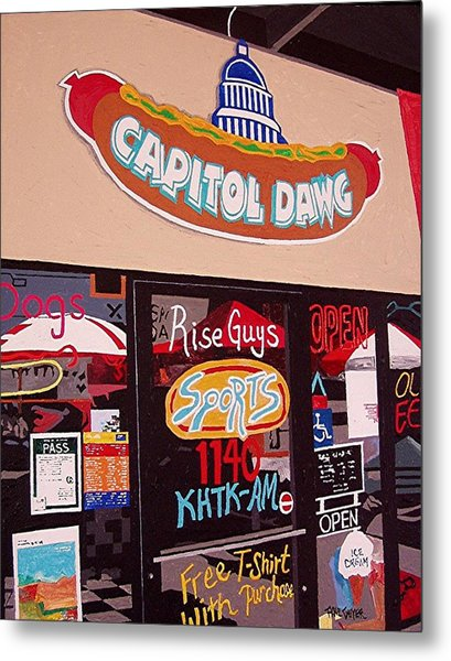 Capitol Dawg Metal Print by Paul Guyer