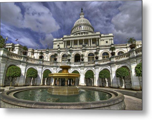 Capitol Fountain Metal Print