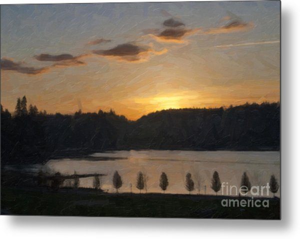 Metal Print featuring the photograph Capitol Lake Sunset by Susan Parish