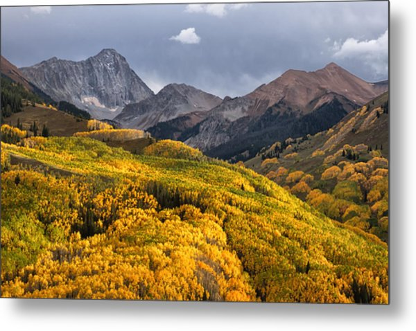 Capitol Peak In Snowmass Colorado Metal Print