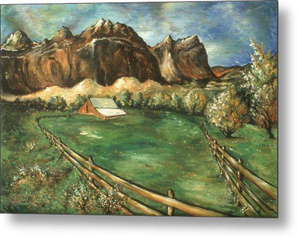 Capitol Reef Utah - Landscape Art Painting Metal Print