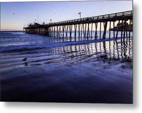 Metal Print featuring the photograph Capitola Wharf Reflections by Priya Ghose