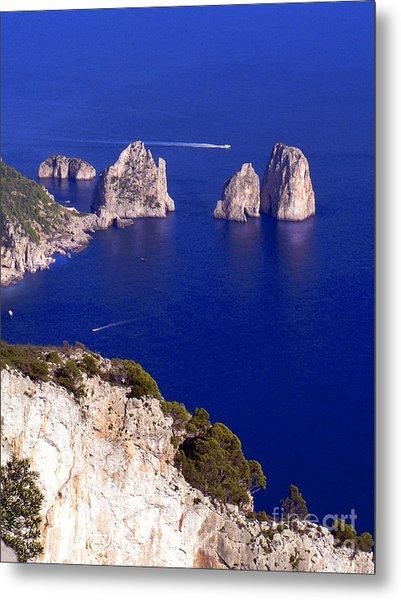 Capri Italy Seascape Metal Print