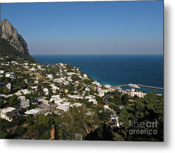 Capri View Of Marina Grande Metal Print