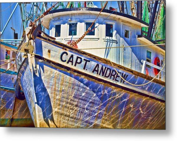 Capt Andrew Shrimper Metal Print