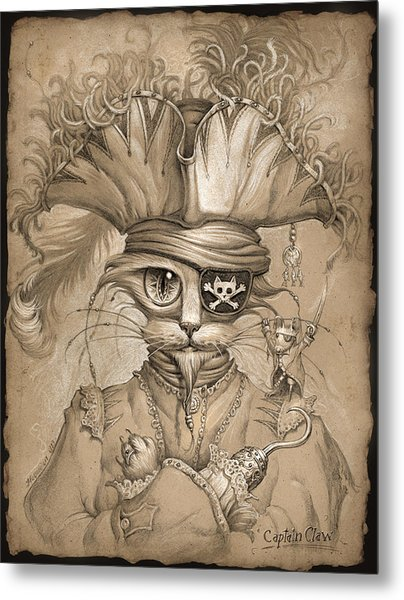 Captain Claw Metal Print by Jeff Haynie
