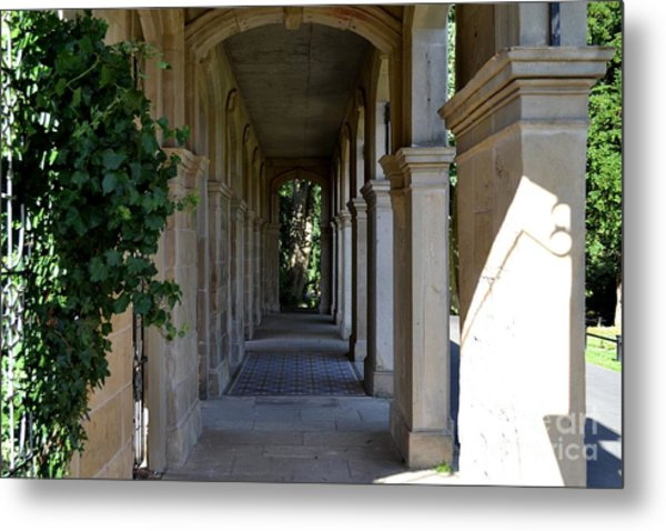 Captain Cook Museum Walkway Metal Print