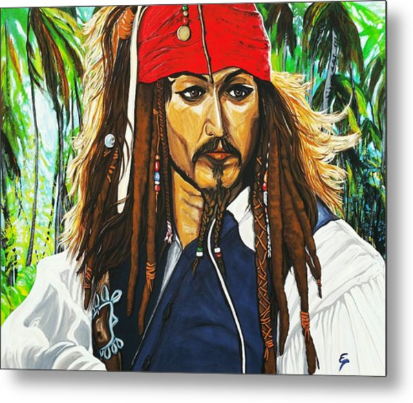 Captain Jack Sparrow Metal Print