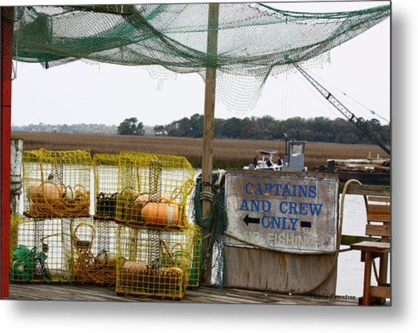 Captains And Crew Metal Print by Paula Rountree Bischoff