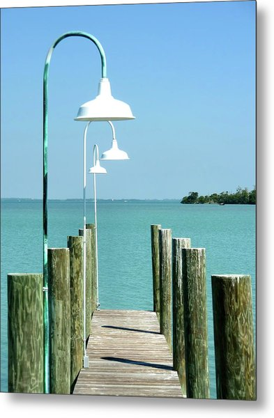 Captiva Island Pier Two Metal Print by Richard Mansfield