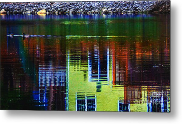 New England Landscape Illusion Metal Print