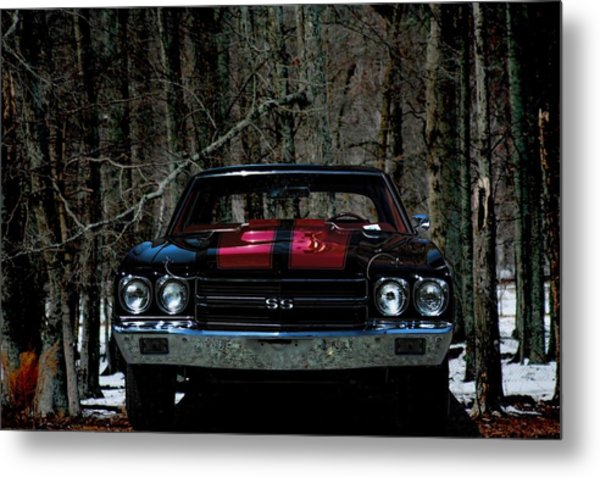 Car Art Chevy Chevelle Ss Hdr Metal Print