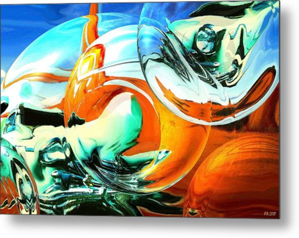 Car Fandango - Modern Art Metal Print