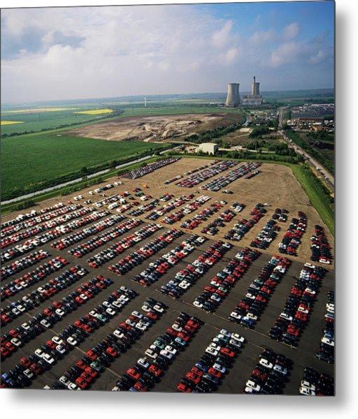 Car Storage Metal Print