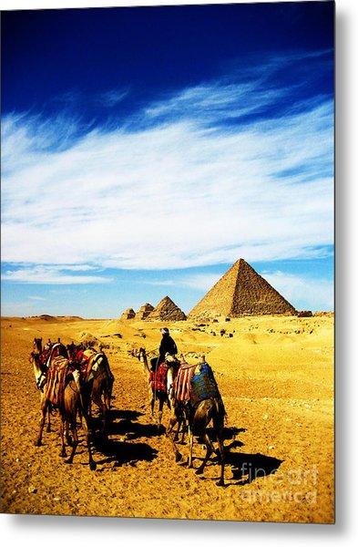 Caravan Of Camels Metal Print