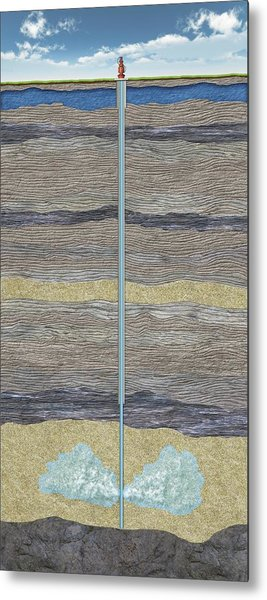 Carbon Capture And Storage Metal Print by Nicolle R. Fuller/science Photo Library