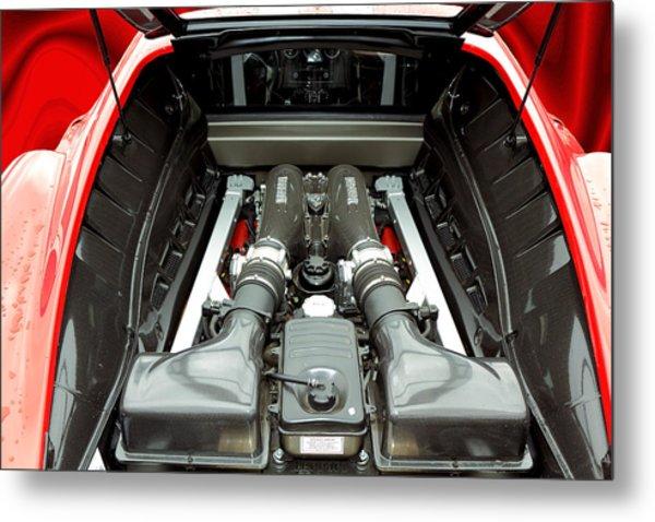 Carbon Ferrari Metal Print