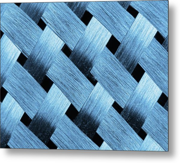 Carbon Fibre Fabric Metal Print