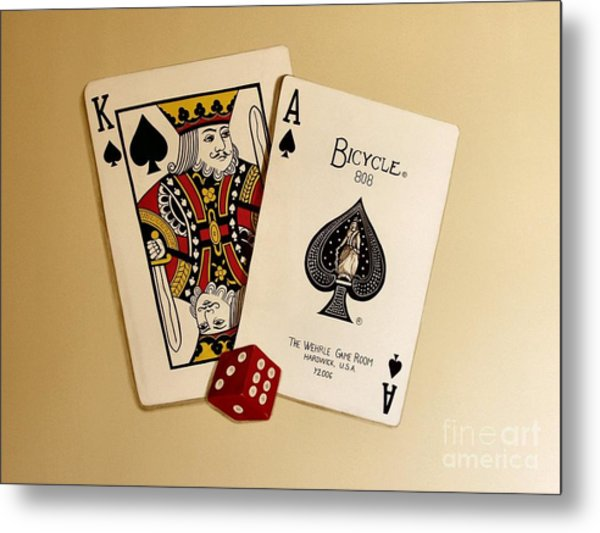 Card Game Room Mural Metal Print