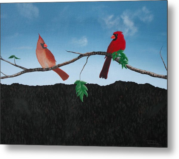 Cardinals No. 2 Metal Print by Candace Shockley
