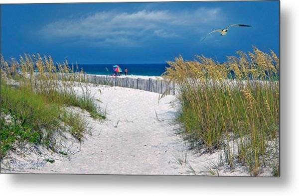 Carefree Days By The Sea Metal Print