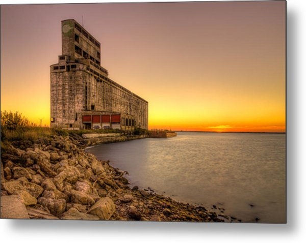 Cargill Pool Elevator Twilight Metal Print