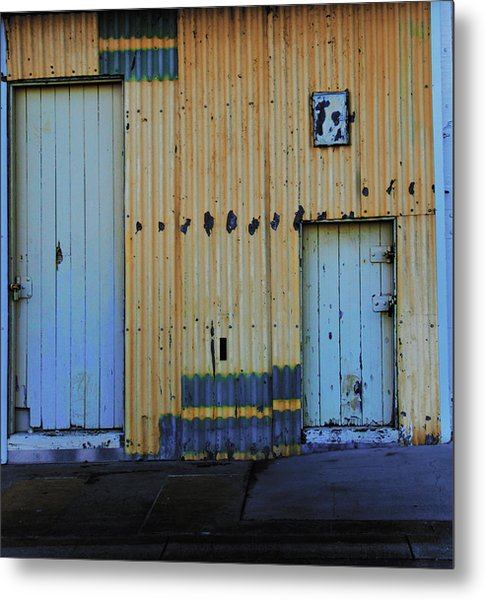 Metal Print featuring the photograph Cargo Shed  by Debbie Cundy