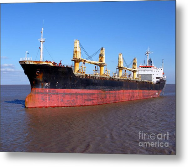 Cargo Ship Metal Print