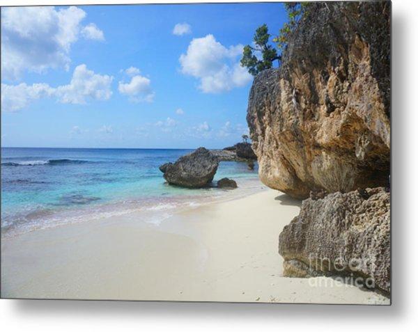 Caribbean Beach Metal Print