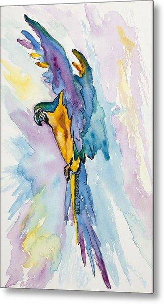 Caribbean Blue Macaw Metal Print