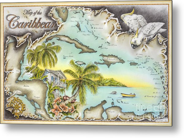 Caribbean Castaway Metal Print by Mike Williams