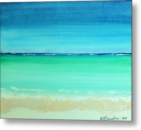 Caribbean Ocean Turquoise Waters Abstract Metal Print