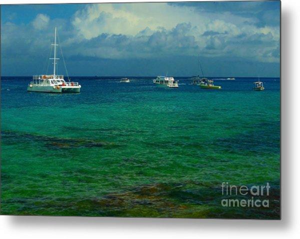 Caribbean Snorkelling Boats Metal Print by Rachel Duchesne