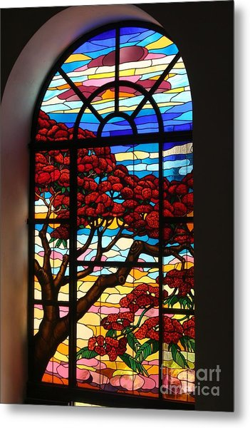 Caribbean Stained Glass  Metal Print