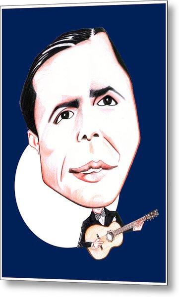 Carlos Gardel Illustration Metal Print by Diego Abelenda