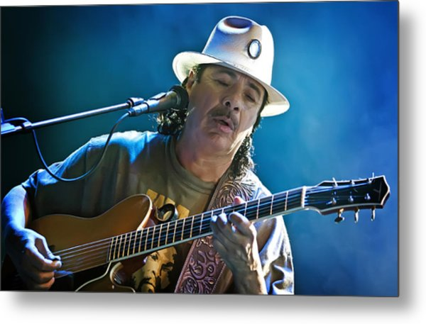 Carlos Santana On Guitar 3 Metal Print