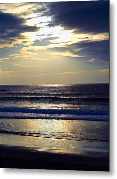Carmel Beach Sunset Metal Print