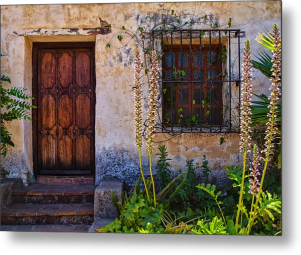 Carmel Mission Living Quarters Metal Print