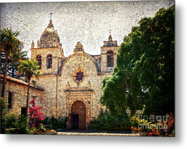 Carmel Mission Metal Print