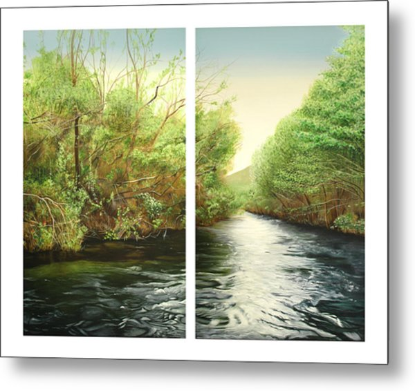 Carmel River Mid-watershed Metal Print