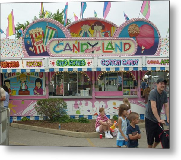 Carnival Candy Land Metal Print by Ann Willmore