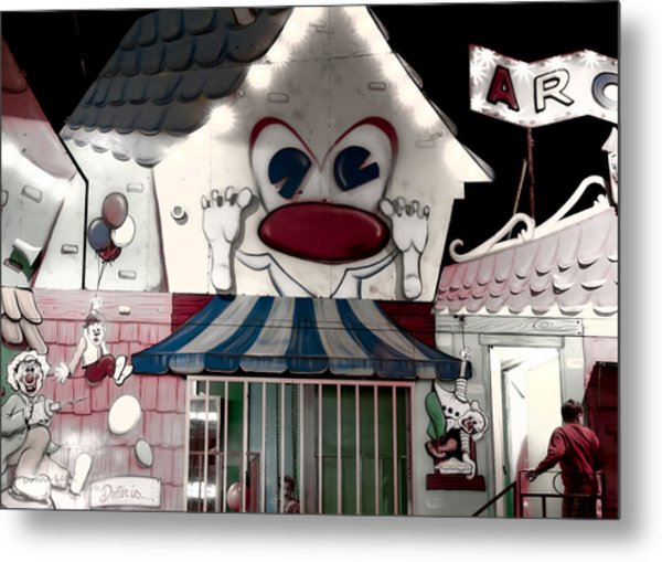 Carnival Fun House Metal Print
