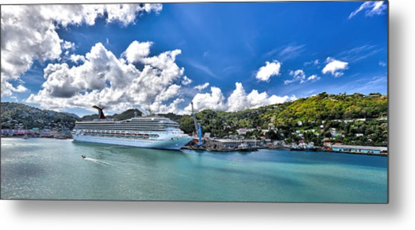 Carnival Valor At St. Lucia Port  Metal Print