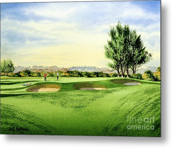 Carnoustie Golf Course 13th Green Metal Print