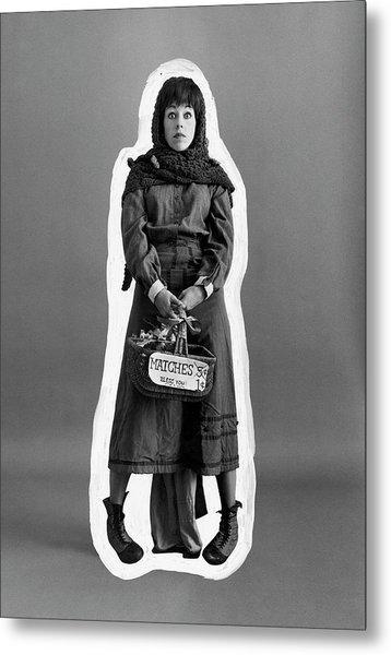 Carol Burnett Dressed As A Match-girl Metal Print by Leonard Nones