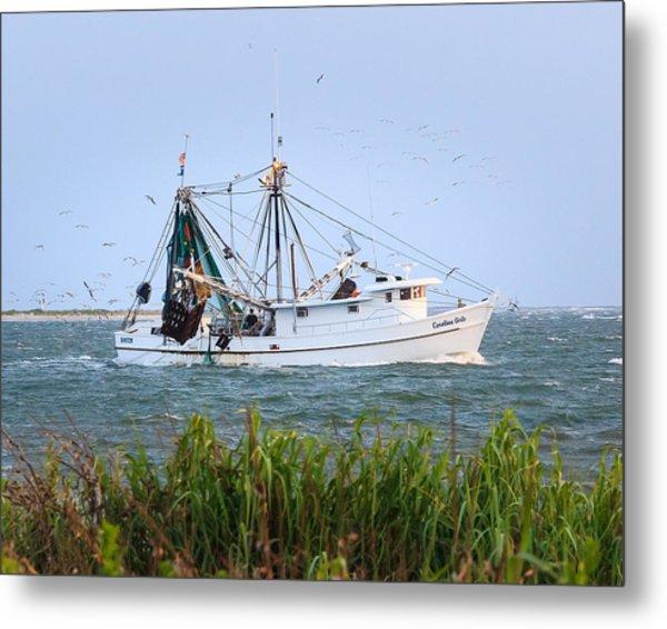Carolina Girls Shrimp Boat Metal Print