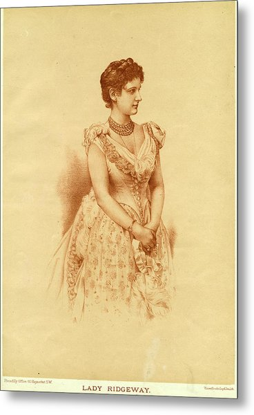Caroline Lady Ridgeway  Wife Of Sir Metal Print by Mary Evans Picture Library