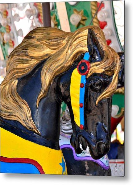 Carousal Horses - 2 Metal Print
