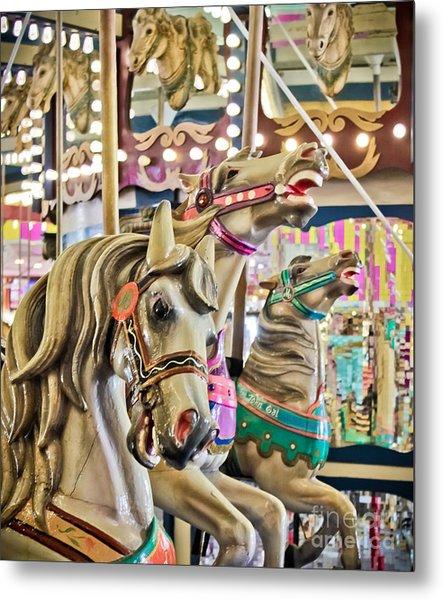 Carousel At Casino Pier Metal Print